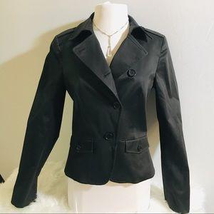 THEORY Black Cotton Blend Jacket Size 10